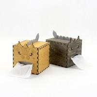 GeekCook极客库舞狮1号DIY卷纸纸巾盒 木质纸巾收纳盒
