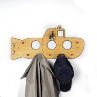 GeekCook极客库木质潜水艇墙钩创意挂钩衣服壁挂衣钩门后排钩