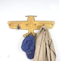 GeekCook极客库木质飞机墙钩创意挂钩衣服壁挂衣钩门后排钩